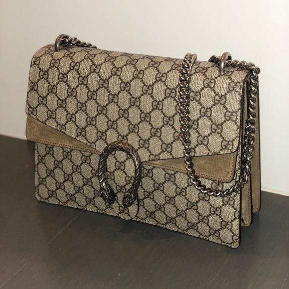 12d5789330c Gucci Handbags - Gucci Dionysus Medium Beige   Taupe